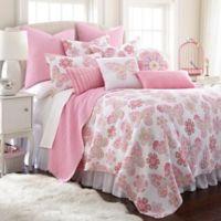 Levtex Home Nova Neta Reversible 2-Piece Twin Quilt Set in Pink