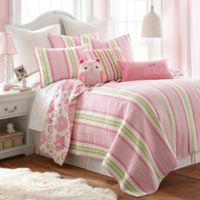 Levtex Home Paige Reversible 2-Piece Twin Quilt Set in Pink/Green