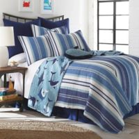 Levtex Home Torri Reversible 3-Piece Full/Queen Quilt Set in Blue