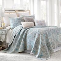 Levtex Home Amelie Reversible King Quilt Set in Blue