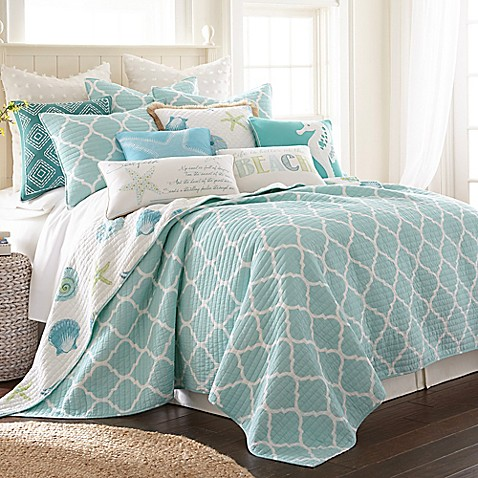 Levtex Home Southport Reversible Quilt Set In Teal Bed