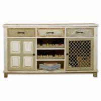 Hillsdale LaRose 2-Drawer Wine Cabinet in White/Grey