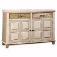 Hillsdale LaRose 2-Door Cabinet in White/Grey