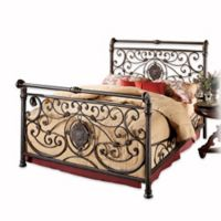 Hillsdale Mercer Queen Bed Set with Rails in Brown