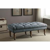 Linon Isabelle 50-Inch Bench in Blue