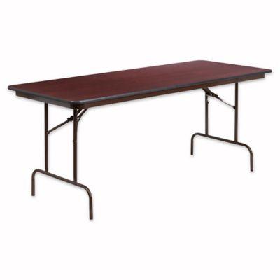flash furniture 6foot rectangular high pressure folding table in mahogany - 6 Foot Folding Table