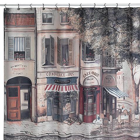 Cafe De Paris Fabric Shower Curtain Bed Bath Beyond