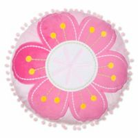 Levtex Home Cecily Flower Round Throw Pillow in Pink