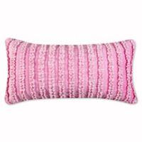 Levtex Home Nova Neta Ruched Oblong Throw Pillow in Pink