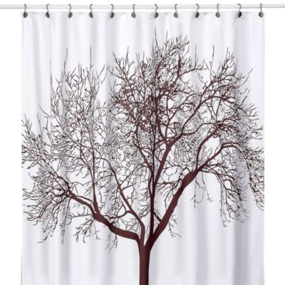 Tree Brown 70 Inch x 72 Inch Fabric Shower Curtain Bed Bath Beyond