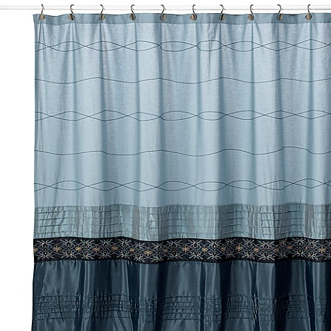 Romana 72 Inch X 72 Inch Fabric Shower Curtain In Blue Bed Bath Beyond