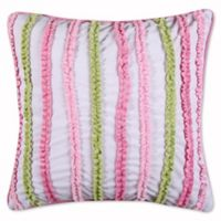 Levtex Home Paige Ruched Oblong Throw Pillow in Pink/Green