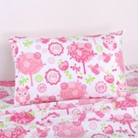 Levtex Home Paige Twin Sheet Set in Pink/Green