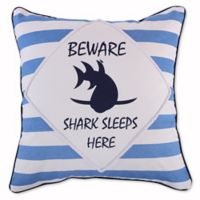 Levtex Home Torri Beware Square Throw Pillow in Blue/White