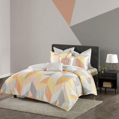 urban habitat annalise 7piece king comforter set in orange