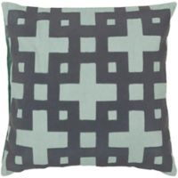 Style Statements by Surya Almere 18-Inch Square Throw Pillow in Slate