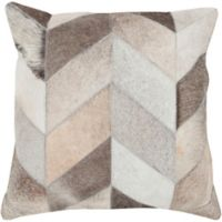 Style Statements by Surya Mukurthi 18-Inch Square Throw Pillow in Beige