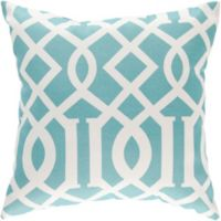 Style Statements by Surya Soli Square Throw Pillow in Teal