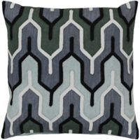 Style Statements by Surya Reynosa 18-Inch Square Throw Pillow in Slate