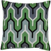 Style Statements by Surya Reynosa 18-Inch Square Throw Pillow in Forest