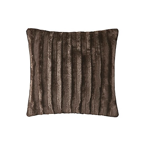 Madison Square 18-Inch Decorative Pillows : Madison Park Duke 20-Inch Square Throw Pillow in Chocolate - Bed Bath & Beyond