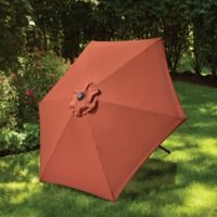 7.5-Foot Round Canopy Umbrella in Apricot