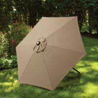 7.5-Foot Round Canopy Umbrella in Tan
