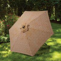 7.5-Foot Round Canopy Umbrella in Taupe