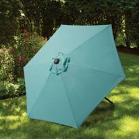 7.5-Foot Round Canopy Umbrella in Arctic Blue
