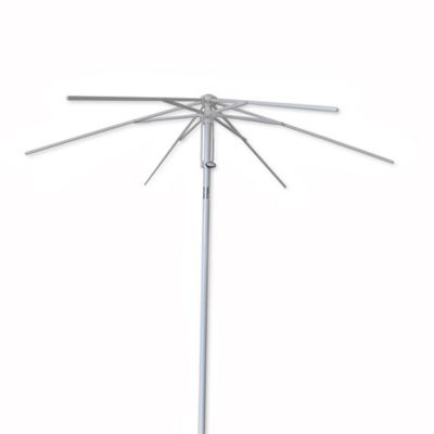 75 foot round steel umbrella frame with fabric bag in white