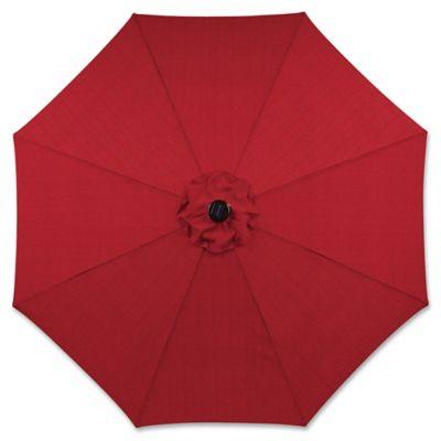 9 Foot Round Solar Aluminum Patio Umbrella In Salsa