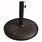 Cement Umbrella Base in Bronze