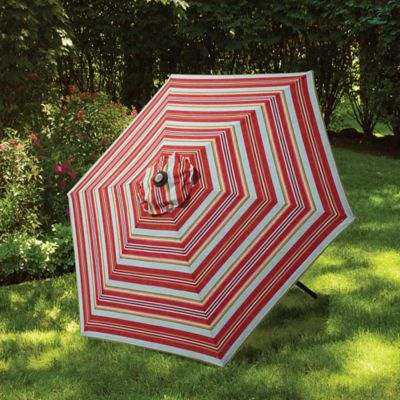 7.5-Foot Round Canopy Umbrella in Atlantic Stripe - Buy Striped Patio Umbrellas From Bed Bath & Beyond