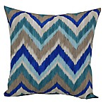 Chevron Lakeside Square Outdoor Throw Pillows in Blue (Set of 2)