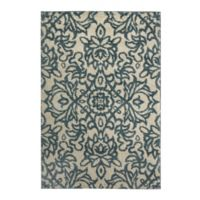 Mohawk Home Augusta Collection Spokane 3-Foot 4-Inch x 5-Foot 6-Inch Area Rug in Blue