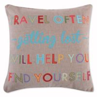 "Levtex Home Gale ""Travel Often"" Burlap Throw Pillow"