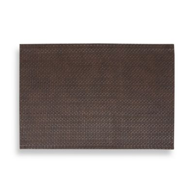 Dakota Faux Leather Placemat In Brown