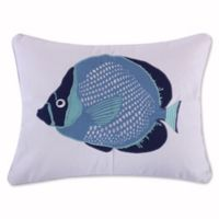Levtex Home Sea Point Fish Oblong Throw Pillow in Blue