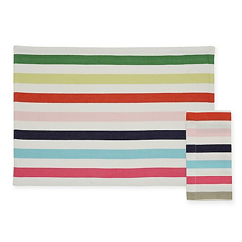 Kate spade new york candy shop placemat and napkin for Bed bath and beyond kate spade
