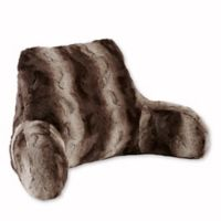 Madison Park Zuri Faux Fur Backrest in Chocolate