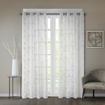 Regency Heights® Cosma 84 Inch Sheer Grommet Window Curtain Panel In White