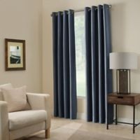 Paradise 63-Inch Room Darkening Grommet Top Window Curtain Panel in Indigo