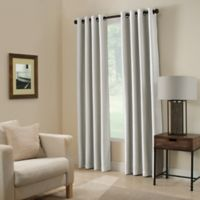 Paradise 63-Inch Room Darkening Grommet Top Window Curtain Panel in Silver