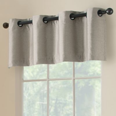paradise room darkening 52inch grommet window valance in silver