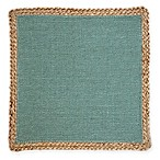 Jute Square Placemat in Teal