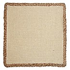 Jute Square Placemat in White
