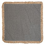 Jute Square Placemat in Grey