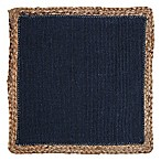 Jute Square Placemat in Navy