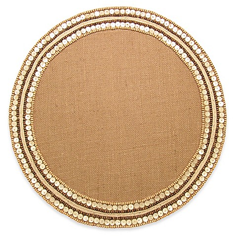 Beaded Placemat In Jute Ivory Bed Bath Amp Beyond