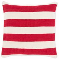 Style Statements by Surya Cazneau Square Throw Pillow in Poppy